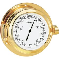 "BARIGO Poseidon Series Porthole Ship's Barometer - Brass Housing - 3.3"" Dial [1325MS]"
