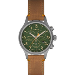 Timex Expedition Scout Chrono Watch - Tan\/Green [TW4B044009J]