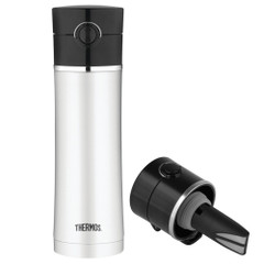 Thermos Stainless Steel, Vacuum Insulated Drink Bottle w\/Tea Infuser - 16 oz. [NS403BK4]