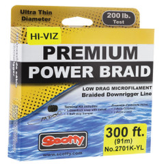 Scotty Premium Power Braid Downrigger Line Hi-Vis Yellow - 200lb Test - 300' [2701K-YL]