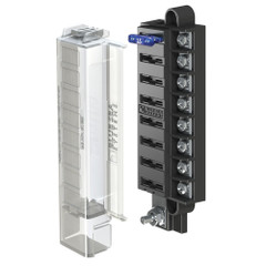 Blue Sea 5046 ST Blade Compact Fuse Blocks - 8 Circuits w/Cover [5046]