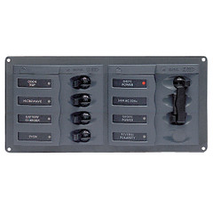 BEP AC Circuit Breaker Panel w\/o Meters, 4 Way Panel 2 Mains - 110V [900-AC1-110V]