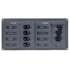 BEP AC Circuit Breaker Panel w/o Meters, 4 Way Panel 2 Mains - 240V [900-AC1]