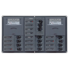 BEP AC Circuit Breaker Panel w\/Analog Meters, 2SP 1DP AC230V [900-ACM2-AM]