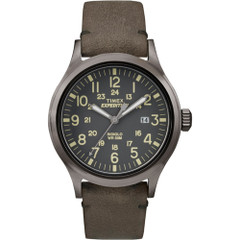 Timex Expedition Scout Metal - Brown Leather\/Gray Dial [TW4B017009J]