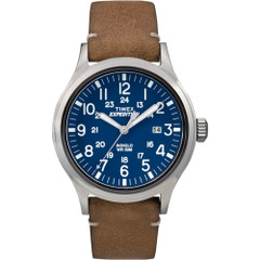 Timex Expedition Metal Scout - Tan Leather\/Blue Dial [TW4B018009J]