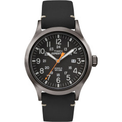 Timex Expedition Metal Scout - Black Leather\/Black Dial [TW4B019009J]
