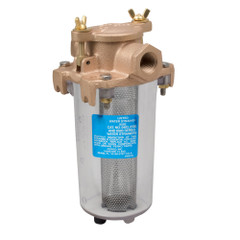 """Perko Lightweight Intake Water Strainer - Clear Body - 1\/2"""" Pipe Size [0443004PLB]"""