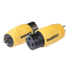 Marinco Straight Adapter - 15A Male Straight Blade to 50A 125\/250V Female Locking [S15-504]