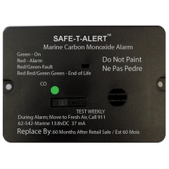 Safe-T-Alert 62 Series Carbon Monoxide Alarm w\/Relay - 12V - 62-542-Marine-PLY-NC - Flush Mount - Black [62-542-MARINE-RLY-NC]