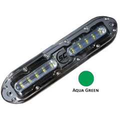Shadow-Caster SCM-10 LED Underwater Light w\/20' Cable - 316 SS Housing - Aqua Green [SCM-10-AG-20]