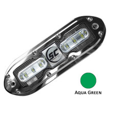 Shadow-Caster SCM-6 LED Underwater Light w\/20' Cable - 316 SS Housing - Aqua Green [SCM-6-AG-20]