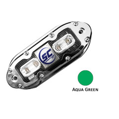 Shadow-Caster SCM-4 LED Underwater Light w\/20' Cable - 316 SS Housing - Aqua Green [SCM-4-AG-20]
