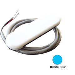 Shadow-Caster Courtesy Light w\/2' Lead Wire - White ABS Cover - Bimini Blue - 4-Pack [SCM-CL-BB-4PACK]
