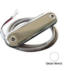 Shadow-Caster Courtesy Light w\/2' Lead Wire - 316 SS Cover - Great White - 4-Pack [SCM-CL-GW-SS-4PACK]