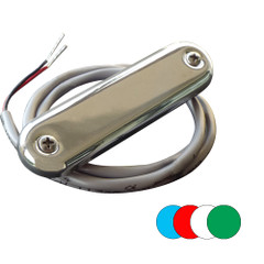 Shadow-Caster Courtesy Light w\/2' Lead Wire - 316 SS Cover - RGB Multi-Color - 4-Pack [SCM-CL-RGB-SS-4PACK]