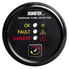 Xintex Propane Fume Detector w\/Plastic Sensor - No Solenoid Valve - Black Bezel Display [P-1B-R]