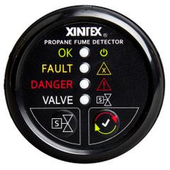 Xintex Propane Fume Detector w\/Automatic Shut-Off & Plastic Sensor - No Solenoid Valve - Black Bezel Display [P-1BNV-R]