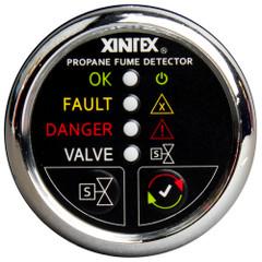 Xintex Propane Fume Detector w\/Automatic Shut-Off & Plastic Sensor - No Solenoid Valve - Chrome Bezel Display [P-1CNV-R]