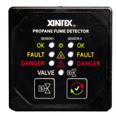 Xintex Propane Fume Detector w\/2 Plastic Sensors - No Solenoid Valve - Square Black Bezel Display [P-2BNV-R]