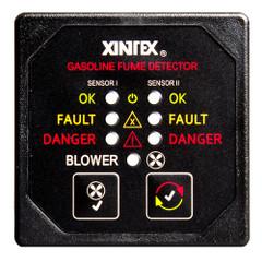 Xintex Gasoline Fume Detector & Blower Control w\/2 Plastic Sensors - Black Bezel Display [G-2BB-R]