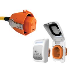 SmartPlug 30 Amp Connector & Non-Metallic Inlet - White [B30ASSYPW]