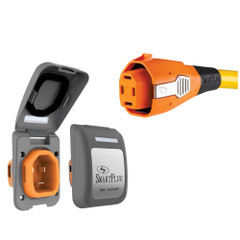 SmartPlug 50 Amp Connector & Non Metallic Inlet - Gray [B50ASSYPG]