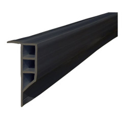 Dock Edge Standard PVC Full Face Profile - 16' Roll - Black [1163-F]