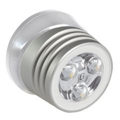 Lumitec Zephyr LED Spreader\/Deck Light - Brushed White Base - White Non-Dimming [101325]