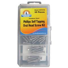 Handi-Man Phillips Oval Head Self Tapping Screw Kit - 68 Pieces [970154]