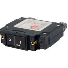 Blue Sea 7542 C-Series Flat Rocker Circuit Breaker - Single Pole - 15A [7542]