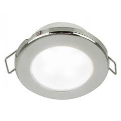 "Hella Marine EuroLED 75 3"" Round Spring Mount Down Light - White LED - Stainless Steel Rim - 24V [958110621]"
