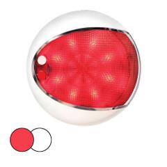 Hella Marine EuroLED 130 Surface Mount Touch Lamp - Red\/White LED - White Housing [959950121]