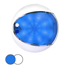 Hella Marine EuroLED 175 Surface Mount Touch Lamp - Blue\/White LED - White Housing [959951121]