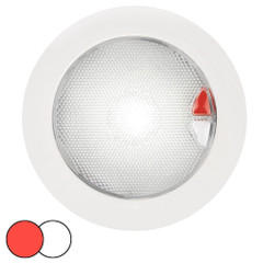 Hella Marine EuroLED 150 Recessed Surface Mount Touch Lamp - Red/White LED - White Plastic Rim [980630002]
