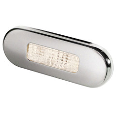 Hella Marine Surface Mount Oblong LED Courtesy Lamp - Warm White LED - Stainless Steel Bezel [980869401]