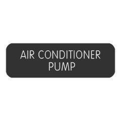 "Blue SeaLarge Format Label - ""Air Conditioner Pump"" [8063-0030]"