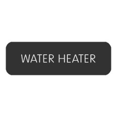 """Blue SeaLarge Format Label - """"Water Heater"""" [8063-0438]"""