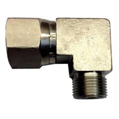 Uflex 90° 3\/8 NI Plate Comp Fitting [MD 38 NI COM FT]
