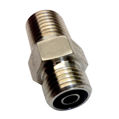 Uflex Powertech Male Connector f\/Autopilot to ORF Hose [UPS 4-4 FLO-SS]