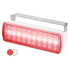 Hella Marine Sea Hawk XL Dual Color LED Floodlights - Red\/White LED - White Housing [980950051]