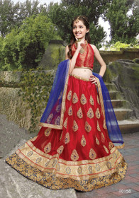 Fabulous Red Net Kids Lehenga Choli40