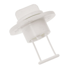 "Barton Marine Drain Bung  Socket - 15mm(.60"") Bore - White [42 358]"
