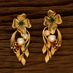 Gold Plated Antique look Pair of Earrings