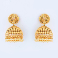 Gold Plated Jhumki style Earrings