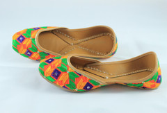 Awesome Orange Handmade Pure Leather Jutti1