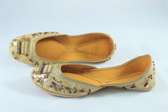 Awesome Beige  Handmade Pure Leather Jutti2