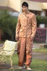 Amazing Rust Brocade Designer Sherwani1050
