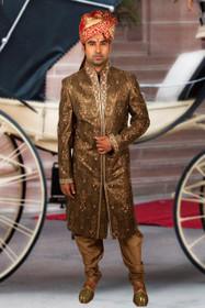 Amazing Copper Zari Brocade Designer Sherwani1158