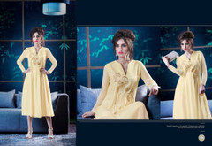 Amazing Yellow Georgette Kurti Top1375